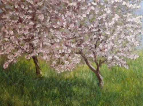 Apple Blossom, after  Claude Monet